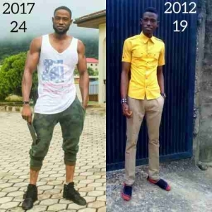 2012 Vs 2017: Nigerian Fitness Trainer Shows Off His Transformation (Photos)